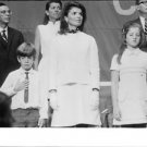 Caroline Bouvier Kennedy standing with people. - 8x10 photo
