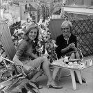 Francoise Sagan and woman sitting on balcony.  - 8x10 photo