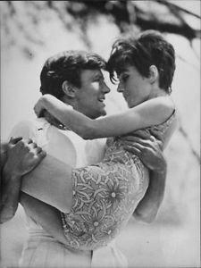 Audrey Hepburn and Albert Finney posing. - 8x10 photo