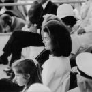 Jacqueline Kennedy Onassis sitting with people. - 8x10 photo