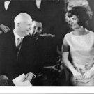 Nikita Khrushchev and  Jacqueline Kennedy smiling. - 8x10 photo