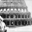 Ingrid Thulin smiling, at the Colosseum in Rome. - 8x10 photo