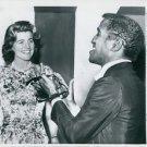 Sammy Davis Jr. with a woman.  - 8x10 photo
