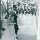 Parent of Henrik prince of consort of Denmark coming to a event. - 8x10 photo