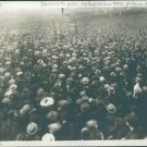 People gathered in a huge number to listen a man. - 8x10 photo