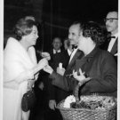 Giulietta Masina meeting with people.  - 8x10 photo