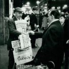 Man selling poster of British politician - 8x10 photo