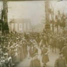 The first troops from the front march into Berlin in December 1918. - 8x10 photo