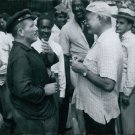 """Spencer Tracy and Ernest Hemingway together on the set of """"The Old Man and the S"""