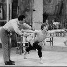 Rudolf Nureyev practising with Roland Petit. - 8x10 photo