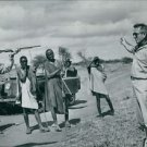 Ernest Hemingway trying to shot.   - 8x10 photo