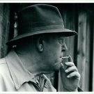 Portrait of Trigve Lie smoking. - 8x10 photo