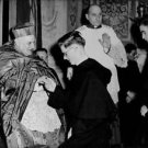 Pope John XXIII holding hand of boy. - 8x10 photo