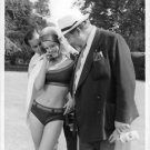 Julie Christie in bikini, with James Robertson, from the filming of The Fast Lad