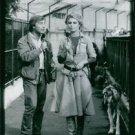 Brigitte Bardot being interviewed.  - 8x10 photo