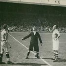 Sweden and Finland Captains with the referee deciding who will have the first ba