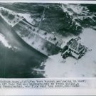 An aerial view of The Fort Mercer Ship. 1952. - 8x10 photo