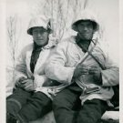 Norwegian soldiers rolls their own cigarette - 8x10 photo