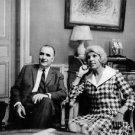 Portrait of Georges Jean Raymond Pompidou sitting with woman. - 8x10 photo