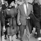 Richard Burton with his wife Elizabeth Taylor, walking.  - 8x10 photo