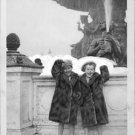 Charlie Chaplin's sons having fun in Paris.   - 8x10 photo