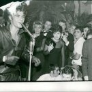 Vince Taylor performing to people at Barclay fest.Taken - Dec 1961 - 8x10 phot