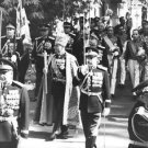 Mohammad Reza Pahlavi marching during his son Reza's coronation.- Oct 1967 - 8
