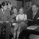 "Johan Jonatan ""Jussi"" Bjorling with his wife Anna-Lisa Bjorling and children.  -"
