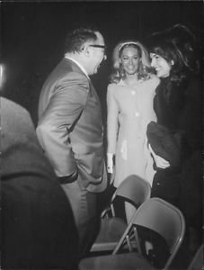 Jacqueline Kennedy and Joan Kennedy with man. - 8x10 photo