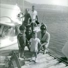 Hussein bin Talal posing with his wife and children.  - 8x10 photo
