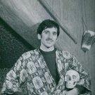 """Luigi """"Gigi"""" Meroni standing and holding skeleton head.  - 8x10 photo"""