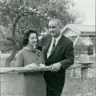 US president Lyndon Johnson and his wife Lady Bird Johnson in their leisure time