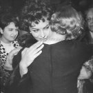 Sophia Loren embracing woman.  - 8x10 photo