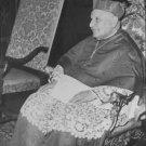 Pope John XXIII sitting on chair. - 8x10 photo