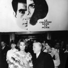 Sophia Loren standing with man in crowd,facing camera. - 8x10 photo