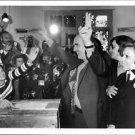 Andreas G. Papandreou among his supporters, signalling victory. - 8x10 photo