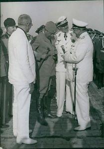 Arrival of Marshall Italo Balbo, Italy in Berlin. 1938. - 8x10 photo