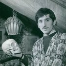 "Luigi ""Gigi"" Meroni holding head skeleton at Turin.  - 8x10 photo"