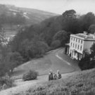 Agatha Christie and her husband Max Mallowan in the grounds of their home Groonw