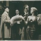 Tora Teje with the other cast in the scene of 1920 Swedish romantic comedy film,