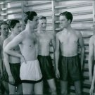 "Alf Kjellin and George Fant from the film ""Den ljusnande framtid"". - 8x10 photo"