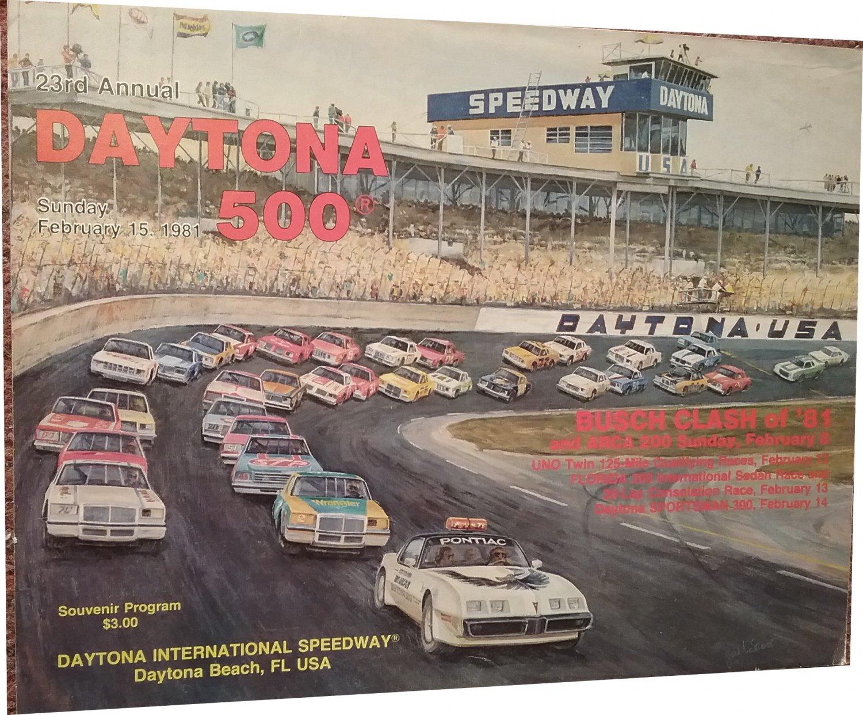 1981 23rd Annual Dayton 500 Racing Program, Artwork Cover 7071654