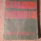 1937 OLDSMOBILE SHOP MANUAL  / SERVICE BOOK /  ORIGINAL!!