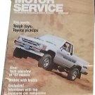 Vintage Motor Service Magazine, Oct . 1986, Toyota Pickup, sku07071609