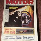 Vintage Motor Magazine, May 1986 , Indy 1986 SKU 07071620