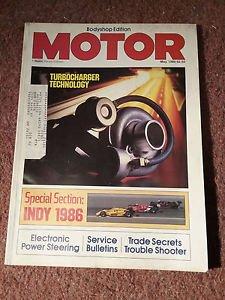 Vintage Motor Magazine, May 1986 , Indy 1986 SKU 07071620