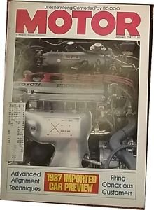 Vintage Motor Magazine, jan 1987, sku 07071613
