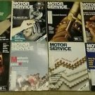 Big Lot, 8 Vintage Motor Service Magazines.  1989 sku07071607