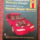 Haynes Repair 36086 Ford Thunderbird Mercury Cougar 1989-1998 07071691