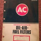 Vintage 1966 AC Oil Air Filter Dealer's Catalog #660 070716112
